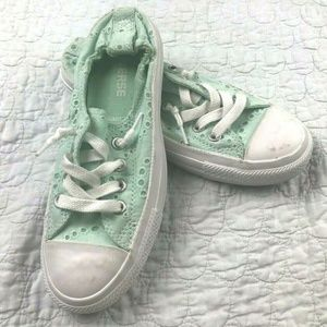 Converse CT Shoreline Green Eyelet Lace Sneakers 6